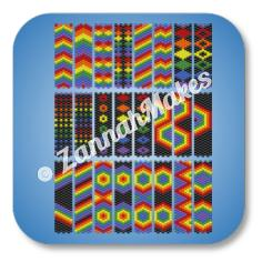 Carrier Bead - Rainbow Pattern Chart